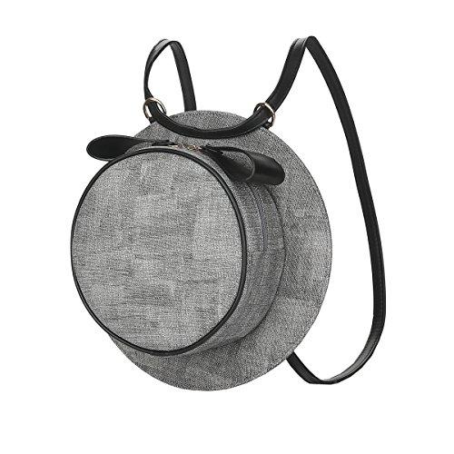 VALIN S820 Nouveau style PU Cuir Sacs portés dos,275×75×275(mm) Gris