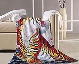 Mangeoo Color tradicional patrón de tigre una toalla de baño Toalla de playa toalla grande tatuaje cubierta con tela toalla deportiva 140x70cm