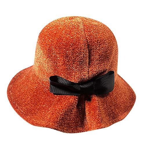 BESSKY Frauen Winter halten Warm Hut Fischer Hat Bowknot Caps Damen Winterbogen hat Fischer hat -
