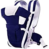 HOLME'S HOLME'S Adjustable Hands-Free 4-In-1 Baby Carrier Bag With Comfortable Head Support & Buckle Straps Navy Blue
