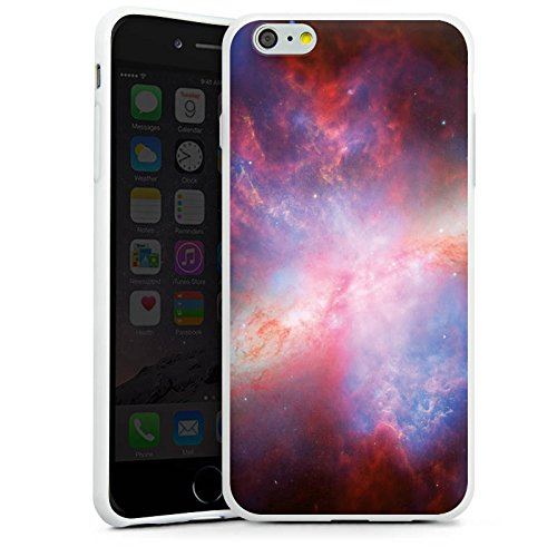 Apple iPhone X Silikon Hülle Case Schutzhülle Galaxy Space Muster Silikon Case weiß