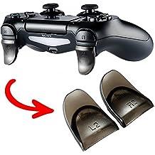 eXtremeRate® 2 Pares de Transparente Brown L2 R2 Extender de Botones para PlayStation 4 PS4 JDM-030 Controller