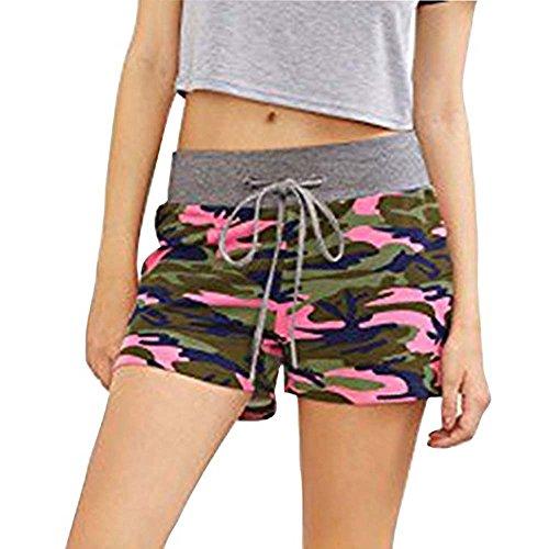 izeit Sport Fitness Shorts Frauen Taille Shorts Camouflage Shorts S-2Xl Slim (Kostüm Kleiderschrank Stunden)
