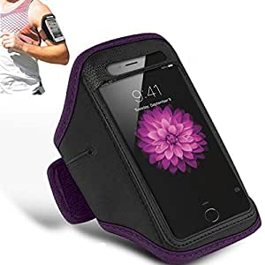 N+ INDIA Sony Xperia Z5 Premium Plus Adjustable Armband Gym Running Jogging Sports Case Cover Holder With Mini Touch Stylus pen Purple