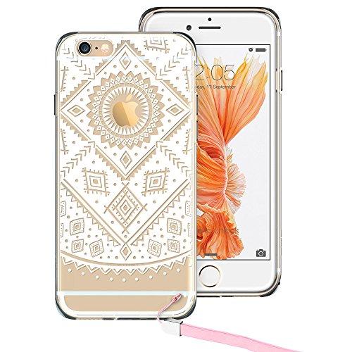 iPhone 6 Plus / 6S Plus Hülle (5,5 Zoll), ESR® Weiche TPU Ränder mit hartem PC Rückdeckel Schutzhülle mit Bändselloch Leichte kratzfeste stoßdämpfende Hülle für iPhone 6/6s Plus (Manjusaka) Aztec Gitter