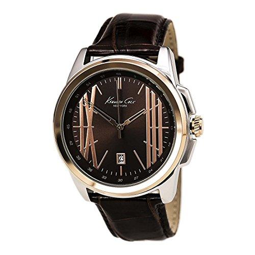 Kenneth Cole ikc8096–Uhr mit Edelstahlarmband für Herren, Braun/Grau (Herren Kenneth Cole Uhren Braun)