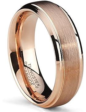 Ultimate Metals Co.® 6MM Herren Rose Vergoldet Wolframcarbid Ehering, Bequemlichkeit Passen