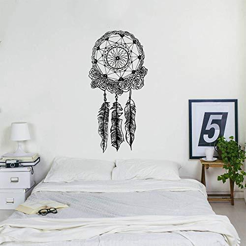 Bohemian Home Decor Dreamcatcher Wandtattoo Boho Bettwäsche Decor Wandaufkleber Dream Catcher Wand Poster Vinyl Kunst -114x56cm