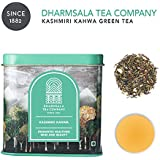 Dharmsala Kashmiri Kahwa Green Tea, Himalayan Green Loose Leaf Tea with Saffron, Almonds, Cinnamon & Cardamom, Revitalising Tea, Highest Levels of EGCG Anti-oxidants, 100g, Freshly Packed at our Plantations in Dharmsala