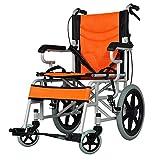 ACEDA Faltbarer Rollstuhl Mit Gepolsterten Armlehnen,12Kg Leichter,Transportrollstuhl Reiserollstuhl,Sitzbreite 46Cm,Belastbarkeit 90Kg