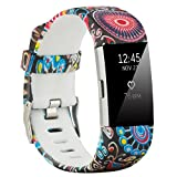 Fit-power Armbänder für Fitbit Charge 2, weich, verstellbar, für Sport und Freizeit, 2 Größen L Type1