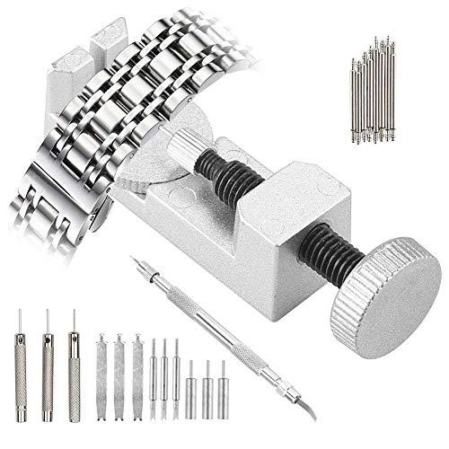 Uhrenwerkzeug Uhrenarmband Strap Kettenbolzen Remover - 10 tlg Edelstahl Armband Werkzeug Stiftausdrücker