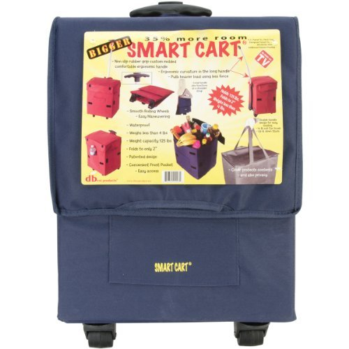 bigger-smart-cart-blue-multipurpose-collapsible-utility-cart-basket-by-smart-cart