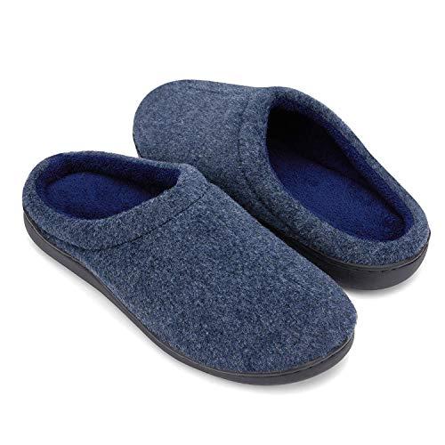 DRSLPAR Pantofole in Feltro Uomo(Blu XL)