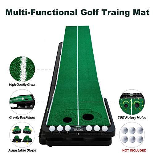 PGM Indoor Golf verstellbar Grade Pitch grün Trainer, grün Loch Cup kann gedreht werden, Praxis-Matten -