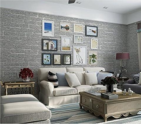 Green non-woven Pearl 3D brick wallpaper living room bedroom corridor