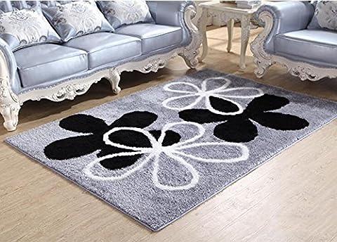 Maison de géométrie moderne Rugs–Memorecool Anti-slipping Fond Salon/chambre à coucher Tapis épais Motif Divers motifs 119,4x 170,2cm, Pattern17, 55x79inch