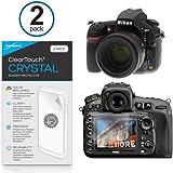 Nikon D810Protector de pantalla, BoxWave® [ClearTouch Crystal (2-Pack)] HD película piel–Protege de arañazos para Nikon D810, D750| Coolpix P330