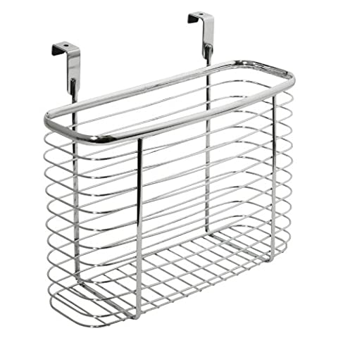 InterDesign Axis Kitchen and Office Over the Cabinet Storage organizer Basket, Chrome