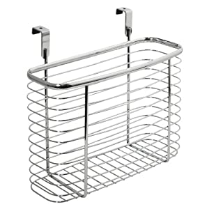 51FoflDo6DL. SS300  - iDesign Axis Kitchen and Office Over the Cabinet Storage organizer Basket, Chrome