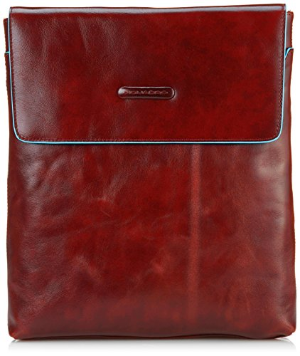 Piquadro CA2775B2 Borsello, Collezione Blu Square, Rosso