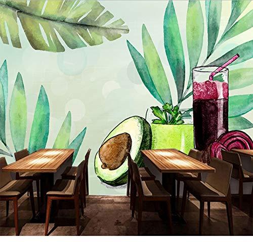 Tapete Obst Gemüse Ernährung Saft Tee Restaurant Wohnzimmer Schlafzimmer Hintergrund Nachahmung Seide Wandbild Benutzerdefinierte Jede Größe 368X254 Cm - Engel Saft