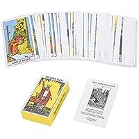 Dewin Cartas del Tarot: mazo de Cartas de Jinete Rite Waite, Juego de Cartas de Juego Vintage Future Telling ( Color : Yellow )
