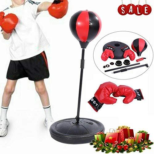 Keulechal Punchingball Boxen Set mit Boxhandschuhen & Pumpe für Kinder Jugend höhenverstellbar