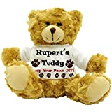 Rupert\'s Teddy, Keep Your Paws Off! - Personalised Male Name Plush Teddy Bear (22cm High Approx.)