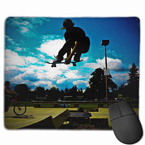 Drempad Gaming Mauspads Custom, Non-Slip Mouse Pads Rectangle Rubber Mousepad Skate Boy Print Gaming Mouse Pad (Hart-skates)