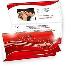 Tatmotive   Einladungskarten Hochzeit Rote Liebe 20 Sets