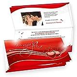Bedruckbar mit Drucker: Einladungskarten Hochzeit Rote Liebe 20 Sets - Laserdrucker und Inkjetdrucker geeigent