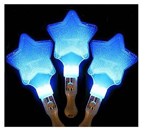 Ensemble de 3 bâtons lumineux, pour fêtes, festivals, étoiles [Bleu]