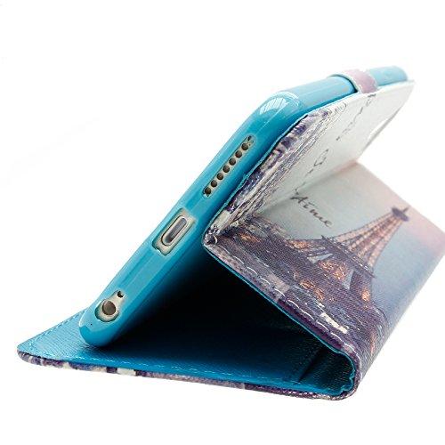 Mobilefox Eulen Flip Case Handytasche Apple iPhone 6/S Paris