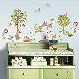 RoomMates RM-Waldtiere und Freunde Wandtattoo, PVC, bunt, 29 x 13 x 2.5 cm