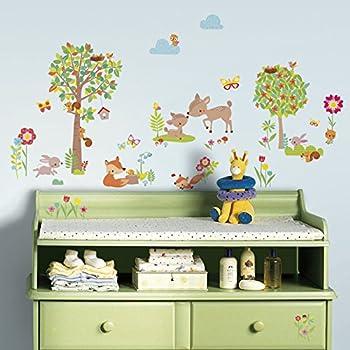 Woodland Tree Nursery and Bedroom Wall Sticker Decor Kit ...
