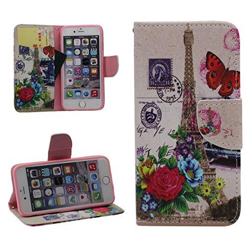 iPhone 6S Plus Portefeuille Bourse Rabat Coque Case de Protection Fille Style, Joli Imprimé Peinture PU Cuir Carte Étui de Protection pour Apple iPhone 6 Plus 5.5 inch color-7