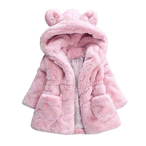 Manteau à capuche Bébé Fille Hiver Chaud Fourure Ultra Épais Longra  Oreilles de lapin Forme Vêtements d extérieur Parka Doudoune Cape Teddy  Blouson à ... bf648a5ccd4