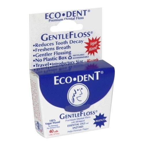 ECO-DENT FLOSS,VEGAN,WAXED, 40 YD CASE_6 by Eco-Dent