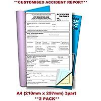 Cherry Carbonless NCR **Custom** - Cuaderno triplicado de accidentes (A4, 50 juegos, 2 unidades)