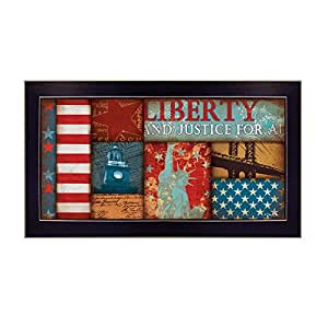 """""""Liberty"""" By Dee Dee, Printed Wall Art, Ready To Hang Framed Poster, Black Frame"""