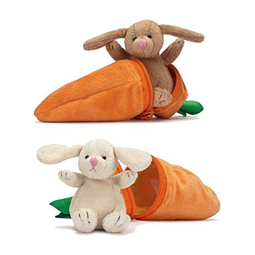 Stofftier Guck-Guck Hase im Möhrenversteck 14 cm Hase in Karotte