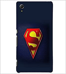 PrintDhaba Superman Logo D-2098 Back Case Cover for SONY XPERIA Z4 (Multi-Coloured)