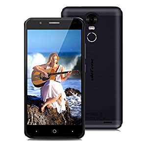 Ulefone Tiger 5.5 inch HD 4G Smartphone Android 6.0 MT6737 1.3GHz Quad Core Dual SIM Mobile Phone 2GB RAM+16GB ROM 8.0MP Back Camera+5.0MP Front Camera Smart Wake Touch ID OTG Cellphone (Black)