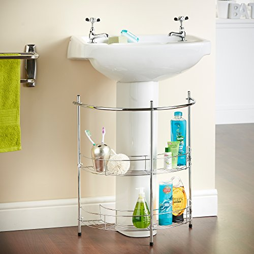 VonHaus 2 Tier Chrome Bathroom U...