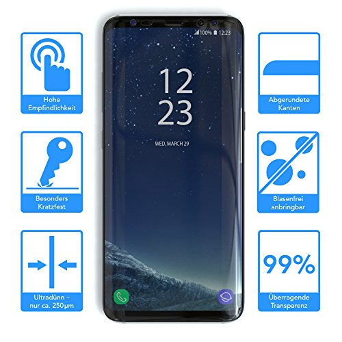"EAZY CASE Handyhülle für Samsung Galaxy S8 Plus Hülle - Premium Handy Schutzhülle Slimcover ""Brushed"" Aluminium Design - TPU Silikon Backcover in brushed Lila 1er Pack"