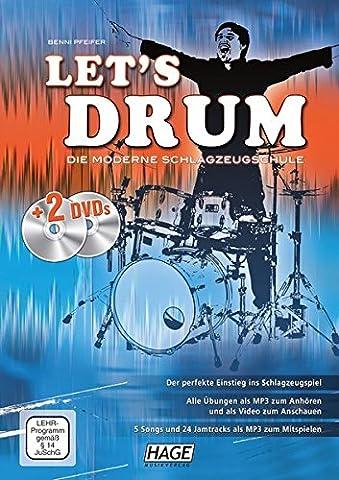 Let's Drum + 2 DVDs: Die moderne