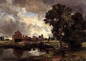 John Constable: Dedham (Serrure et moulin. Anglais Fine Art Print/Poster Paysage. Grande taille A1(84.1cm x 59.4cm)
