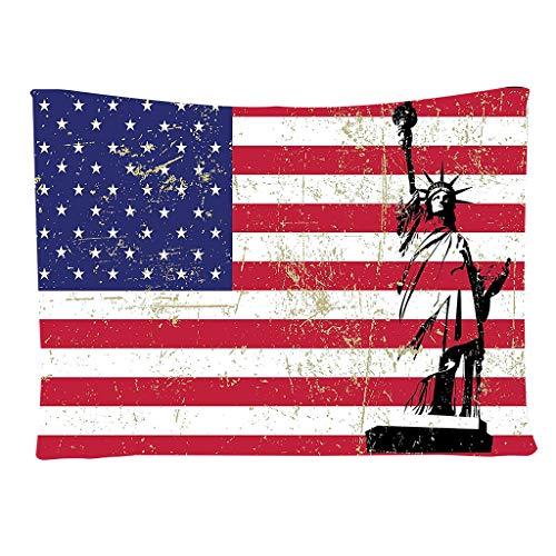 ��‿◕ American Flag Baseball Tapisserie, Fotografie Hintergrund Wanddekoration Moda Stylish Home Dekorationen 150X200Cm ()