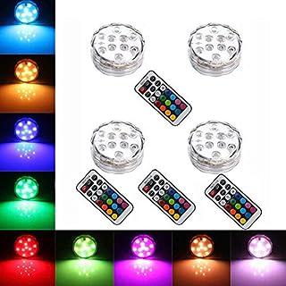 StillCool Unterwasser Licht Unterwasserbeleuchtung Multicolor RGB Controller Leuchte Deko Licht für Garten, Aquarium, Vase, Badewanne, Pool oder Spa (4pcs)
